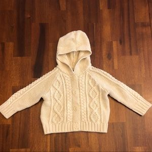 Baby Gap Hooded Cream Sweater